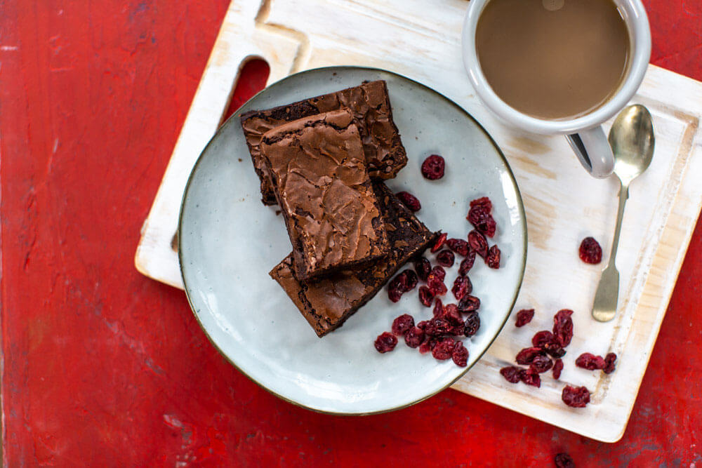 Rolly's Spiced Cranberry Brownies